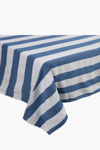 100% Cotton Cabana Stripe Tablecloth, 180x270cm