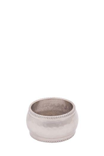 Beaten Metal Napkin Ring