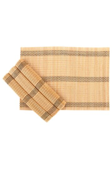 4 Pack Track Bamboo Placemats