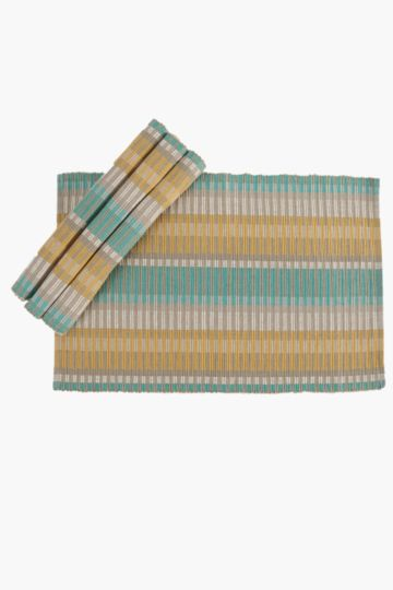 4 Pack Kenya Stripe Placemats