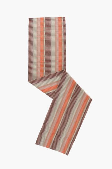 100% Cotton Ribbed Striped Table Runner