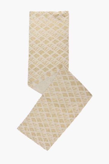 Cotton Scratch Geometric Runner
