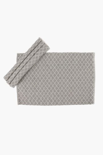 4 Pack Diamond Ribbed Placemats