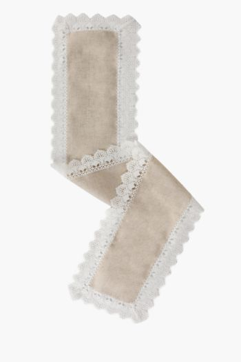 Linen Lace Table Runner