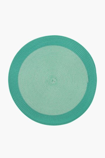 Two Tone Round Woven Placemat