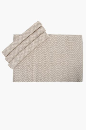 4 Pack Zigzag Ribbed Placemat
