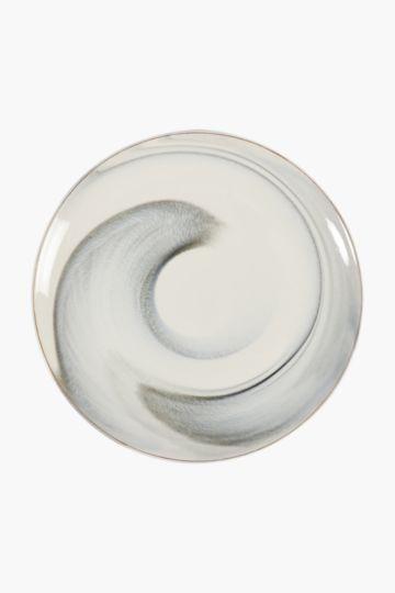 Ceramic Marble Dinner Plate