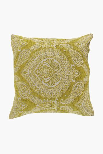 Chenille Indian Print 60x60cm Scatter Cushion