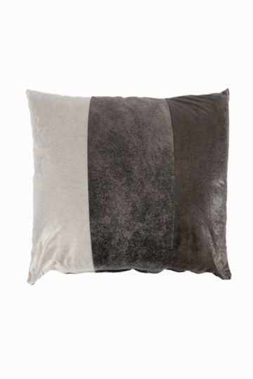 Paneled Mock Suede 70x70cm Scatter Cushion