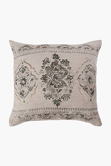 Printed Damask Embrace Feather Scatter Cushion, 60x60cm