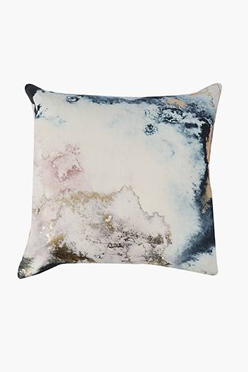 Printed Cosmic Foil Feather Scatter Cushion, 60x60cm