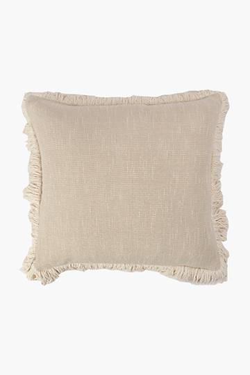 Slub Fray Detail Feather Scatter Cushion, 60x60cm