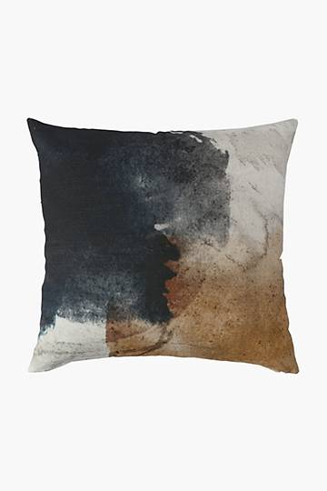 Printed Opal Abstract Feather Scatter Cushion, 60x60cm