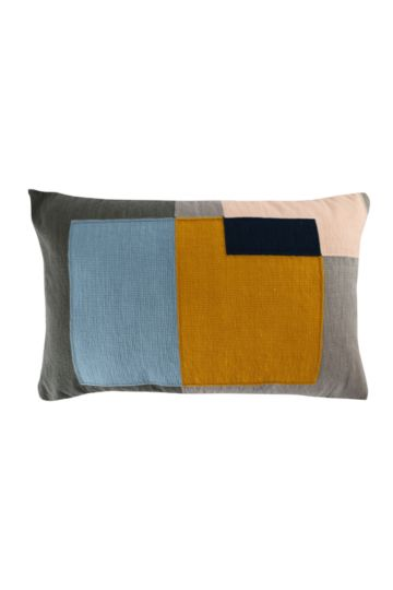 Embroidered Retro Geometric 40x60cm Scatter Cushion