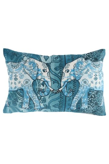 Printed Indian Elephant 40x60cm Scatter Cushion