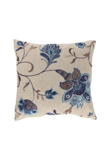 Embroidered Moroccan Flower 50x50cm Scatter Cushion