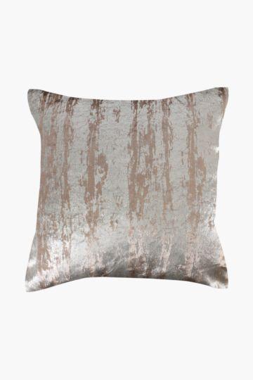 Metallic Velvet Feather 60x60cm Scatter Cushion