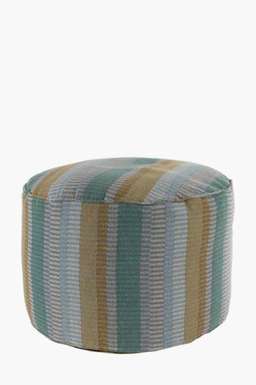 Multi Stripe 50x30cm Pouffe