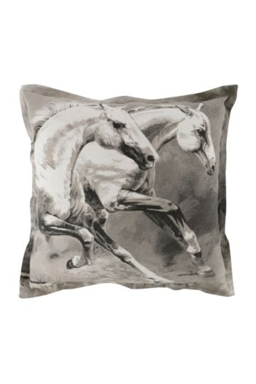 Printed Horse Feather 60x60cm Scatter Cushion