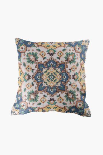 Printed Boho Velvet 50x50cm Scatter Cushion