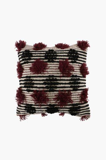 Textured Stripe Tassel 50x50cm Scatter Cushion