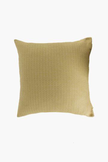 Woven Jacquard Honeycomb 60x60cm Scatter Cushion