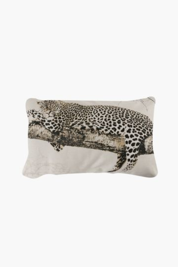 Printed Leopard Feather 50x80cm Scatter Cushion