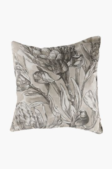 Printed Protea Feather 60x60cm Scatter Cushion