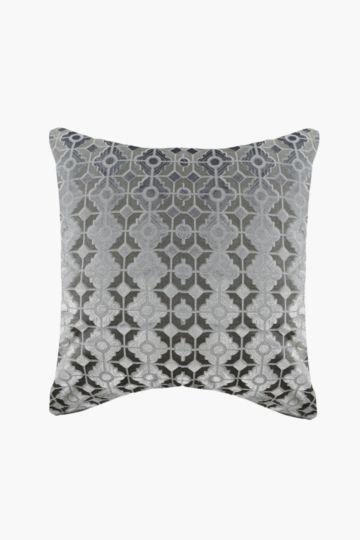 Cut Velvet Feather 60x60cm Scatter Cushion