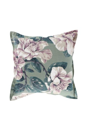 Printed Magnolia Feather 60x60cm Scatter Cushion
