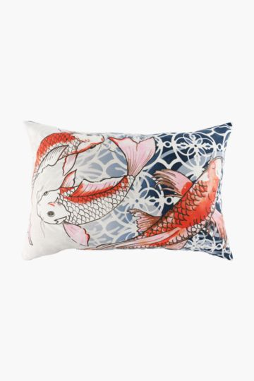 Printed Koi Fish 40x60cm Scatter Cushion