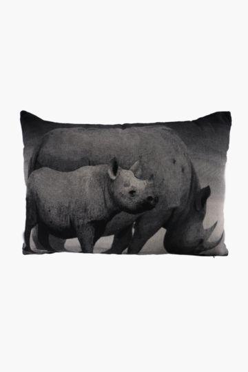 Tapestry Rhino 40x60cm Scatter Cushion