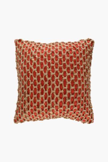 Hessian Weave Scatter Cushion, 50x50cm