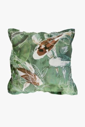 Printed Koi Feather 60x60cm Scatter Cushion