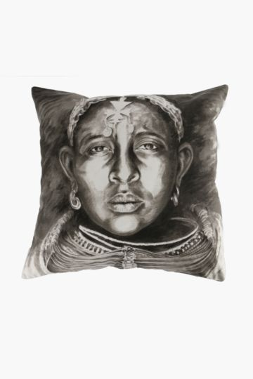 Tribal Lady Feather 60x60cm Scatter Cushion