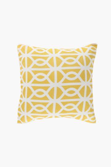 2 Pack Printed Geometric Scatter Cushion, 45x45cm