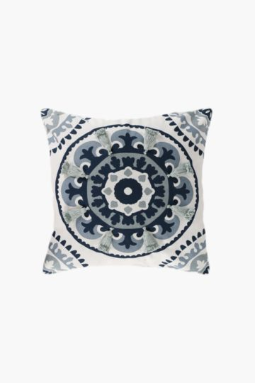 Embroidered Tassel Suzani Scatter Cushion, 50x50cm