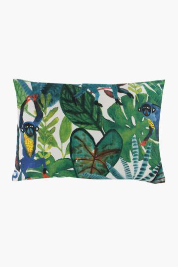 Printed Monkey Tropic Scatter Cushion, 40x60cm