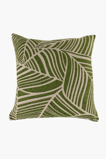 Chenille Leaf Scatter Cushion, 60x60cm