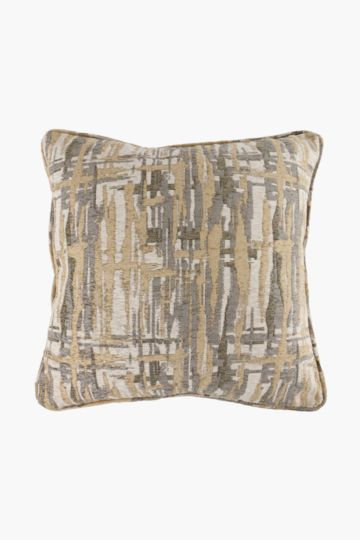 Jacquard Abstract Feather Scatter Cushion, 60x60cm