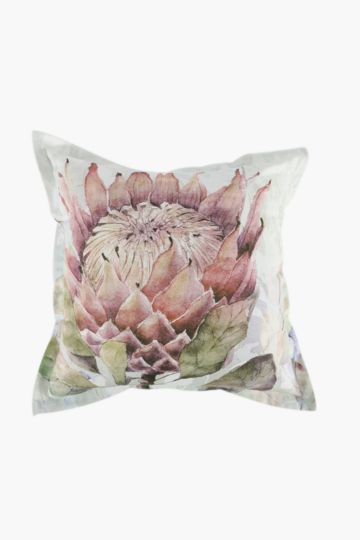 Printed Protea Scatter Cushion, 55x55cm