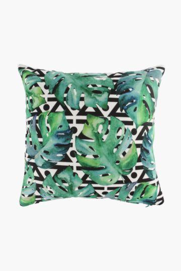 Printed Tropical Leaf Scatter Cushion, 45x45cm