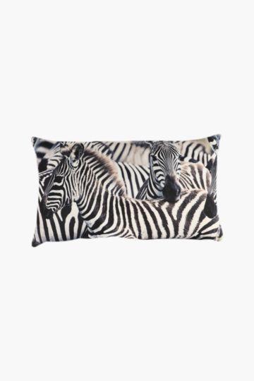 Digital Zebra Herd Scatter Cushion, 40x60cm