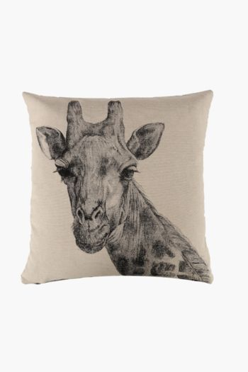 Tapestry Giraffe Scatter Cushion, 48x48cm
