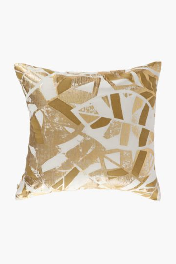 Printed Stylized Leaf Scatter Cushion, 50x50cm