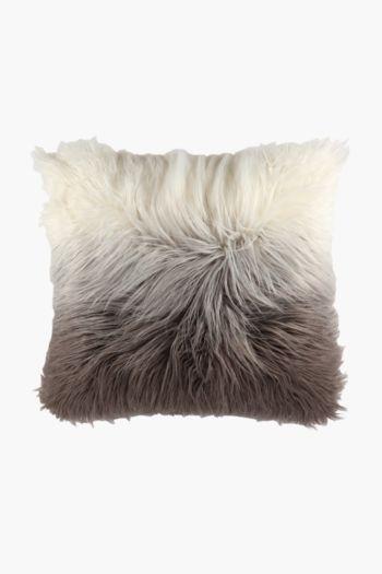 Faux Fur Mongolian Scatter Cushion, 50x50cm