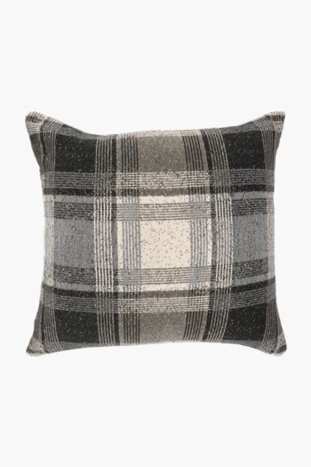 Chenille Wallace Check Scatter Cushion, 60x60cm