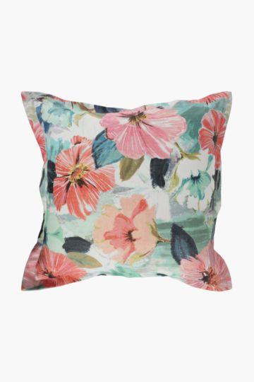 Printed Angelica Flowers Scatter Cushion, 55x55cm