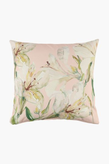 Woven Lily Scatter Cushion Cover, 60x60cm