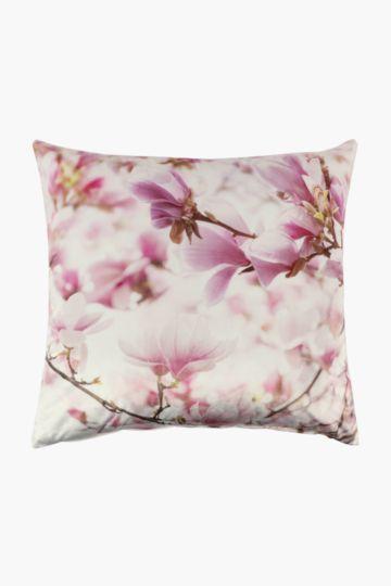 Velvet Cherry Blossom Scatter Cushion Cover, 60x60cm